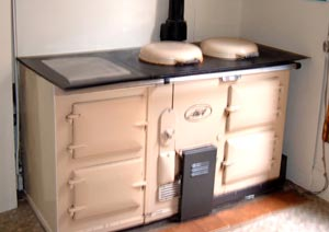 A fitted Aga stove