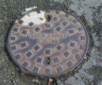 Circular Large Central Name Parallel EXETER